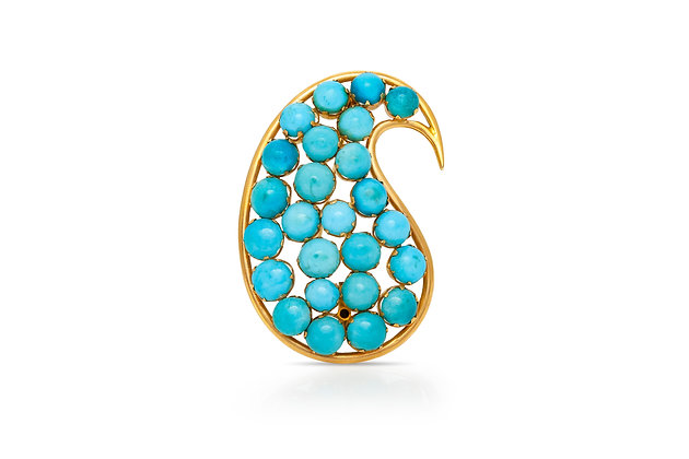 Turquoise Brooch Front View