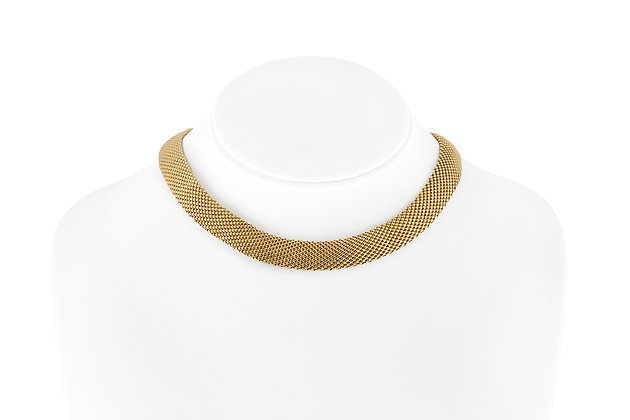 Tiny Beads Gold Collar Necklace on bust