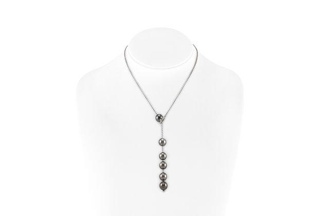 Mikomoto Tahitian Pearls Necklace with Diamonds