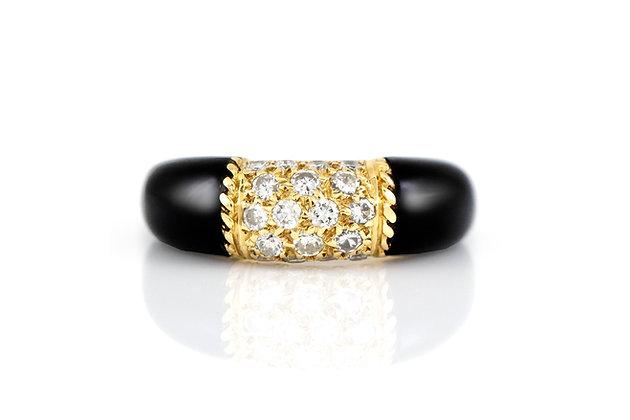 Van Cleef & Arpels Black Onyx Diamond Ring