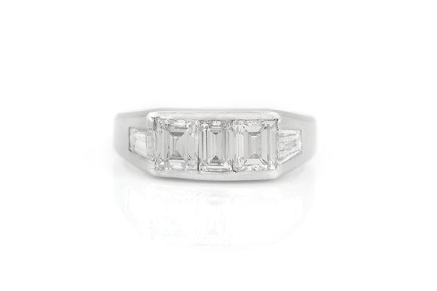 1.85 Karat Diamond Engagement Ring top view