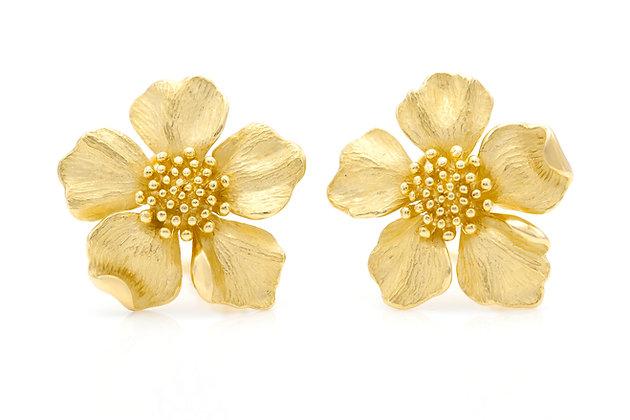 Tiffany & Co. Dogwood Flower Earrings