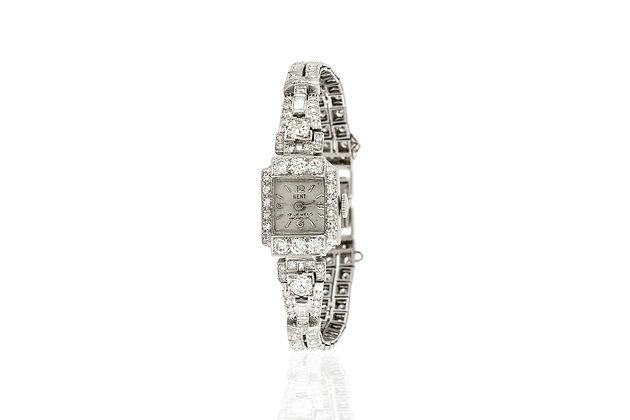 Art Deco Diamond Kent Watch front