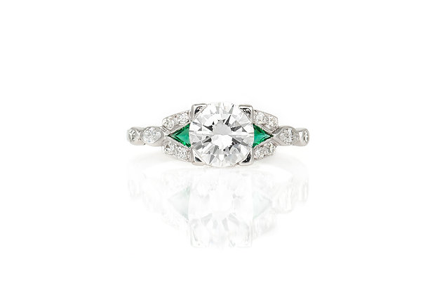 1.46 Carat Art Deco Engagement Ring