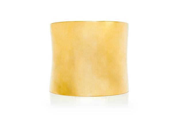 18 Karat Yellow Gold Cuff Front View