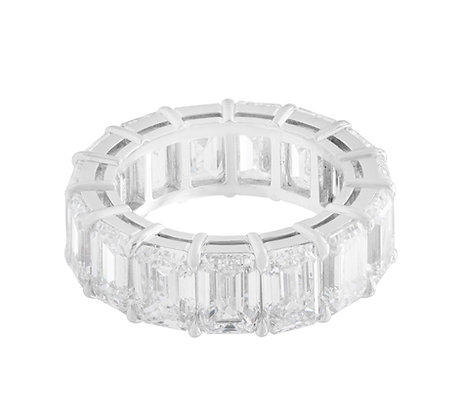 Graff 10.96 Carat Emerald Cut Diamond Eternity Band