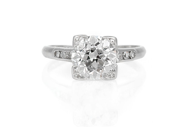 1.87 Carat Art Deco Engagement Ring