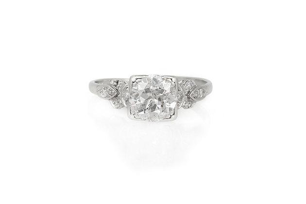 1.70 Carat Art Deco Engagement Ring top view