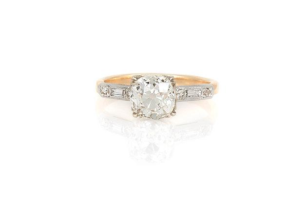 1.67 Carat Art Deco Engagement Ring