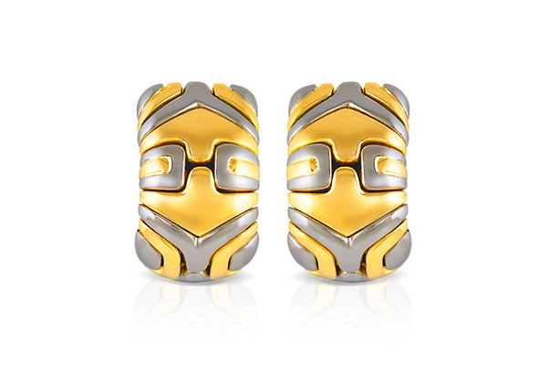 Bvlgari Two Tone Parentesi Earrings front view
