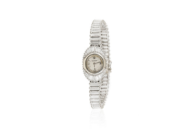 Jaeger-LeCoultre Ladies' Platinum and Diamond Watch front