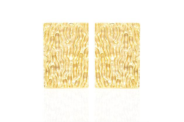 Rectangular Gold Cufflinks Front View