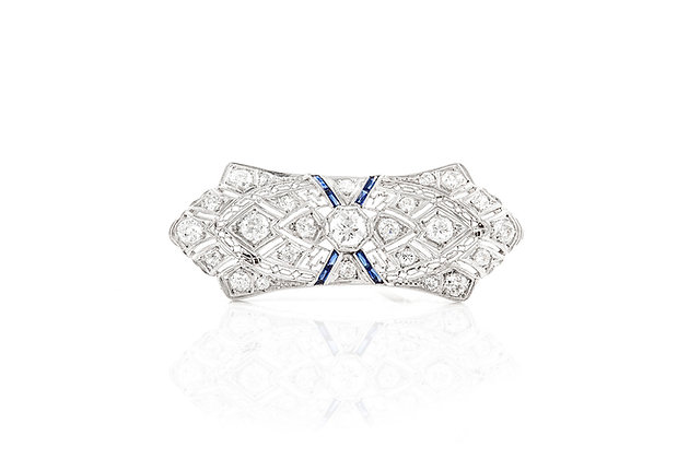 3.00 ct Art Deco Diamond Brooch
