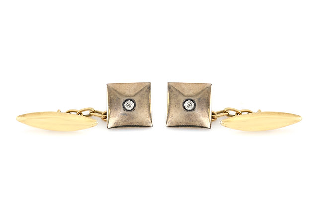 Square Cufflinks with Diamond front