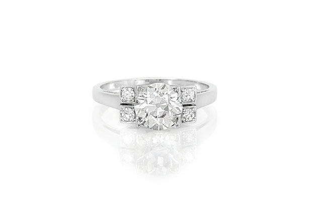 1.30 Carat Art Deco Engagement Ring
