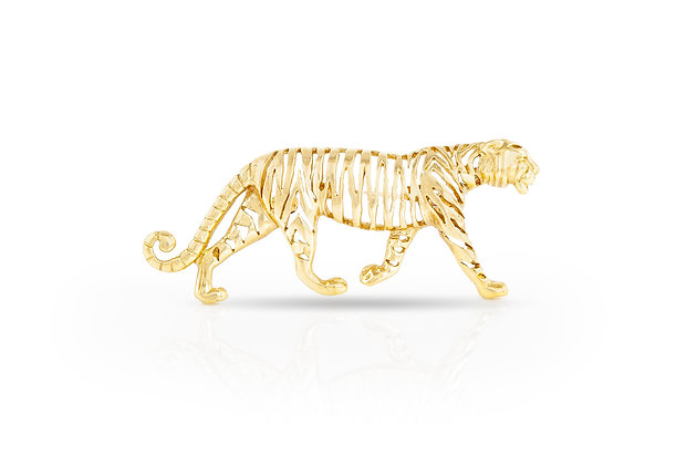 Tiger Brooch Front View