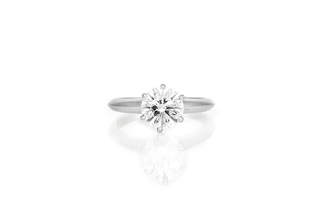 Tiffany & Co. Diamond Engagement Ring top view