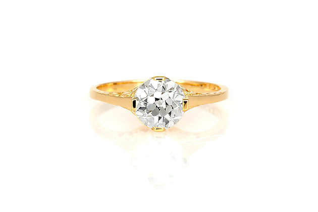 1.33 Carat Antique Reproduction Engagement Ring
