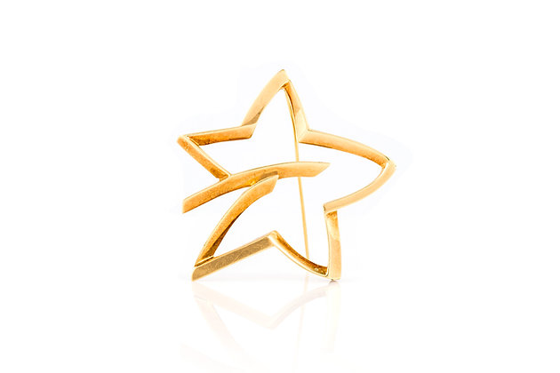 Vintage Tiffany& Co. Star Brooch by Paloma Picasso Front View