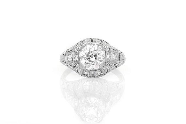 1.60 Carat Edwardian Engagement Ring