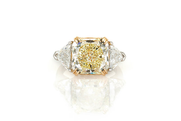 6.75 Carat Canary Diamond Engagement Ring top view