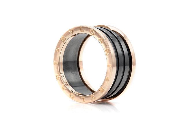 Bvlgari B.Zero 1 Ring in Black Ceramic