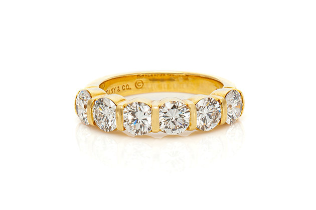 Tiffany & Co. Six-Stone Ring Front View