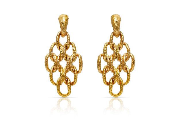 Van Cleef & Arpels Gold Earrings Front View