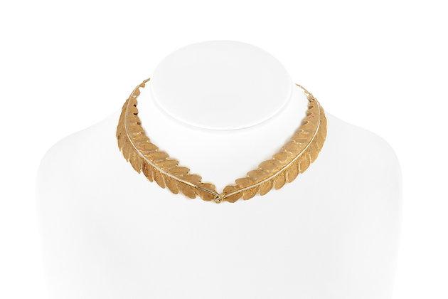Buccellati 18 Karat Leaf Choker Necklace front view