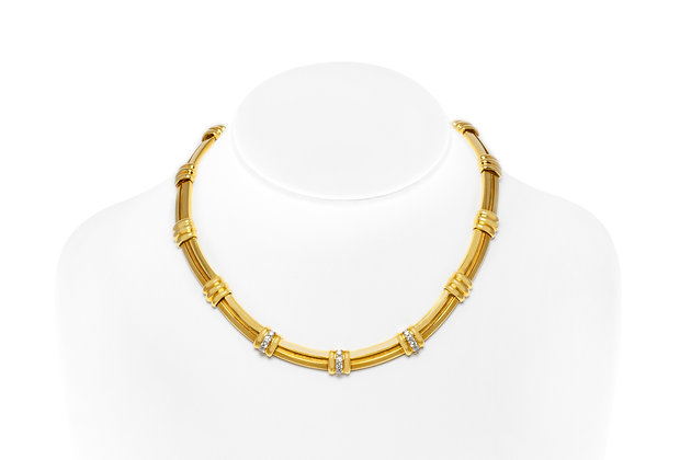 Tiffany & Co. Diamond Necklace Front View