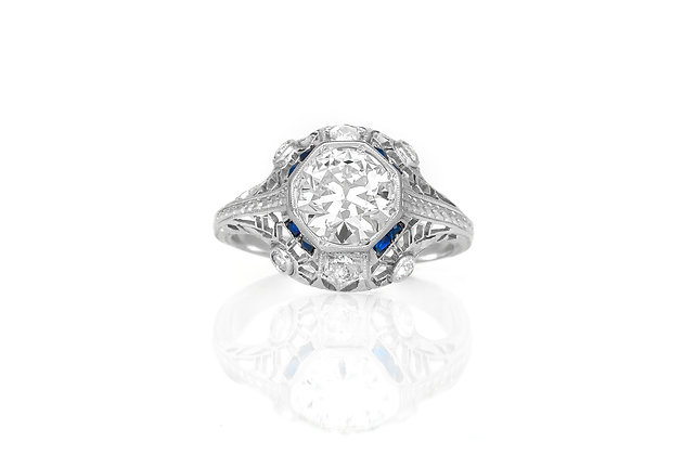 1.29 Carat Art Deco Engagement Ring