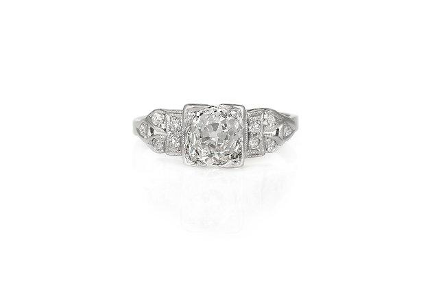 0.75 Carat Diamond Art Deco Ring