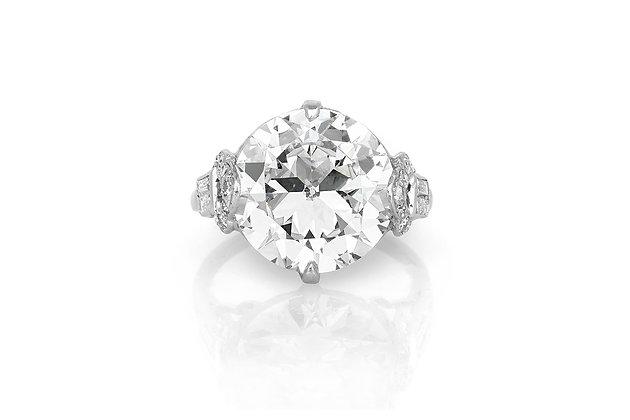 7.12 Carat Art Deco Engagement Ring