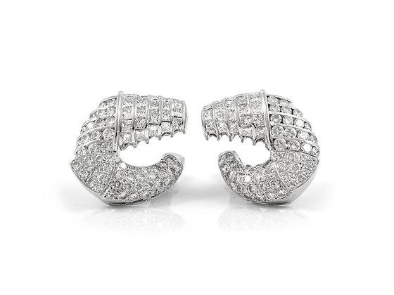 Diamond Earrings front view