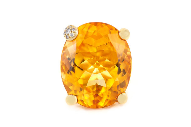 Dior Cocktail Citrine Ring top