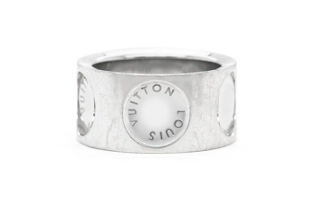 Louis Vuitton Empreinte White Gold Band