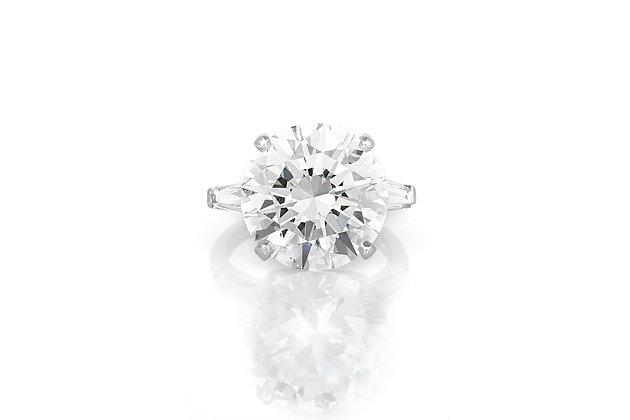 12.19 Carat Round Brilliant Cut Engagement Ring top view