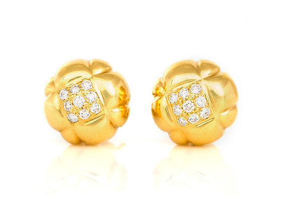 Chanel Flower Earrings front