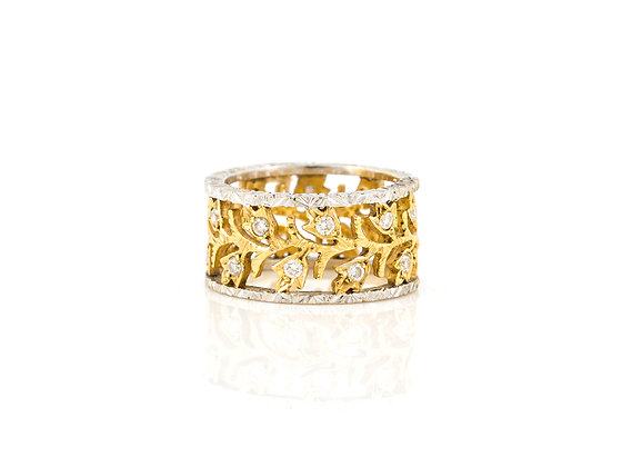 Vintage Eternity Wedding Ring front view