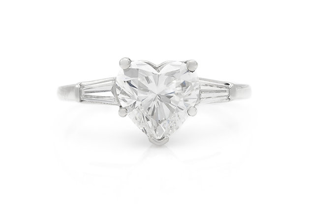 1.50 Carat GIA Heart Shaped Engagement Ring
