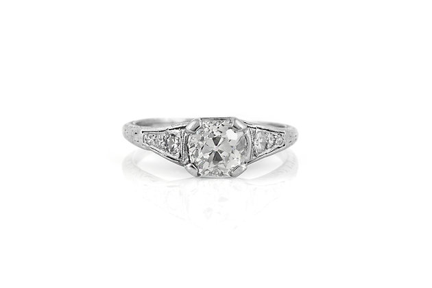 Engagement Ring Art Deco 1.08 Carat top