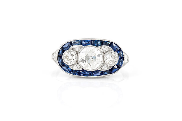 Diamond Cluster Ring front