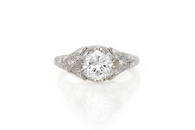 1.51 Carat Art Deco Engagement Ring