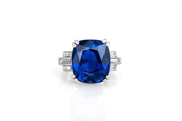 17.13 Carat AGL Ceylon Sapphire Ring