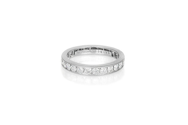 Tiffany & Co. Channel Set Diamond Band front view