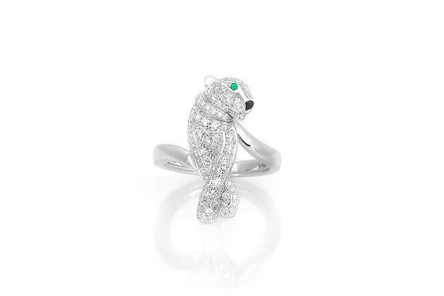 Cartier Diamond Paved Panther Ring