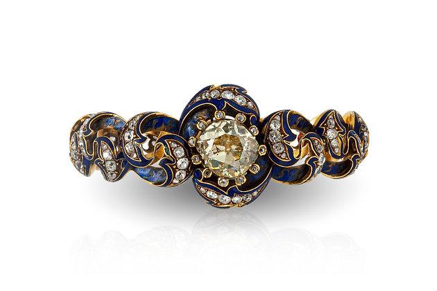 Enamel Diamond Bracelet Front View
