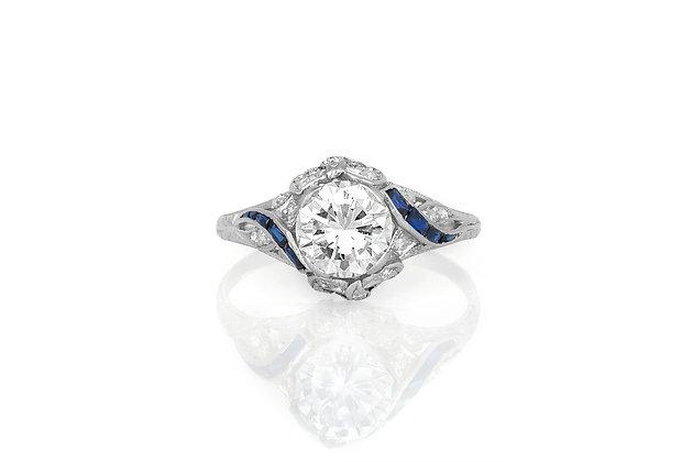 1.72 Carat Art Deco Engagement Ring