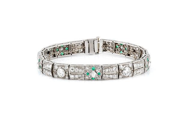 Old European Cut Diamond Bracelet front