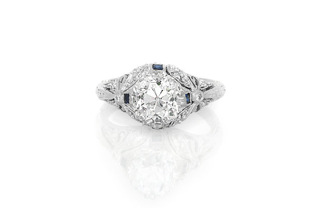 2.37 Carat Edwardian Engagement Ring